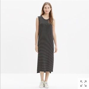 Madewell Sleveless Tee Dress in Stripe